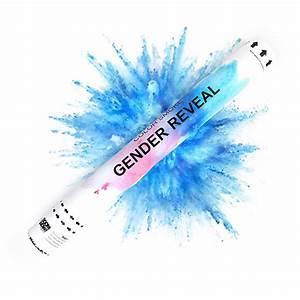 Shooter gender reveal blauw